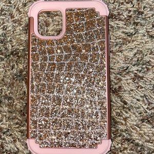 Rose gold IPhone 11 Pro Max phone case